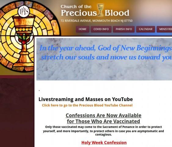 Estados Unidos - Igreja de New Jersey - Sem vacinação, sem confissão