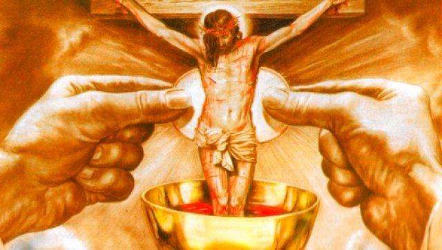 O Sangue de Cristo corre na Santa Missa como se saísse das Chagas Dele na Cruz