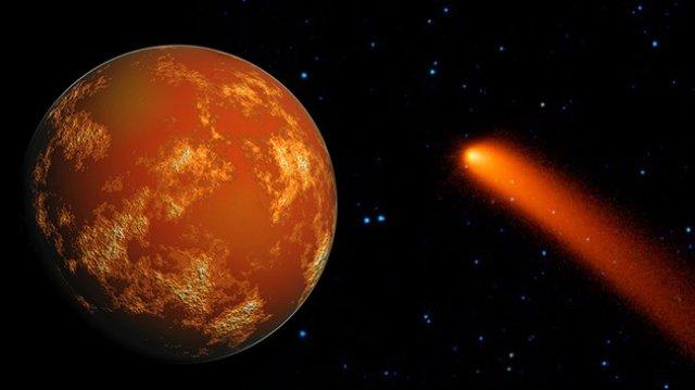Implacável, cometa Siding Spring ruma contra Marte, o Planeta Vermelho