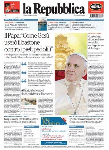 Papa Francisco: 2% do Clero é composto por pedófilos e se sua Diocese tiver 100 padres, 2 deles são pedófilos