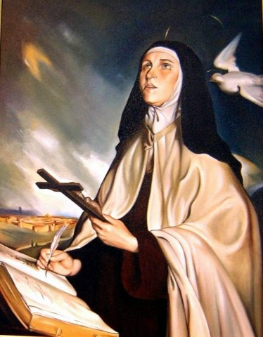 O inferno segundo a visão de Santa Teresa de Ávila: Queimar-se aqui na terra é sofrimento muito leve em comparação com aquele fogo de lá