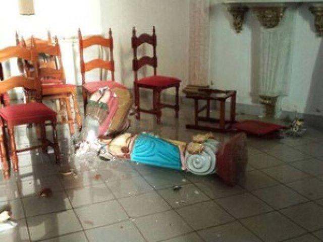 Jovem evangélico destrói imagem de Nossa Senhora em cidade mineira