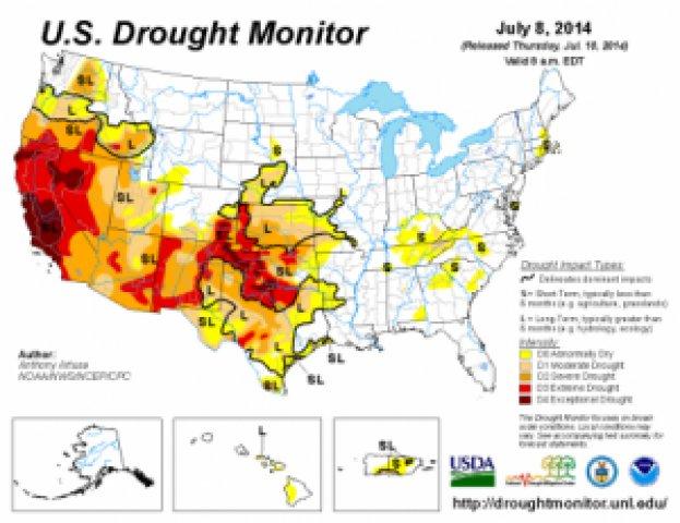 Seca histórica no oeste dos Estados Unidos está começando a ficar apocalíptica