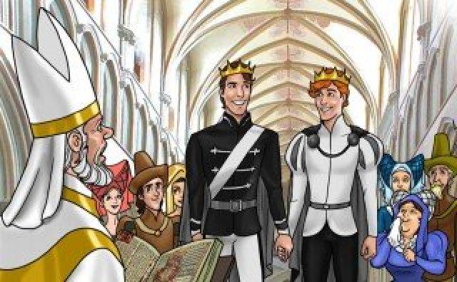 Cristãos protestam diante de livro com conto de fadas gay para crianças